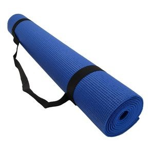 PVC Yoga Exercise Mats with Carrying Strap